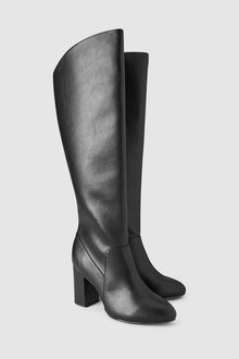Next Knee High Feature Heel Boots