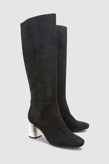 Next Feature Metal Heel Long Boots