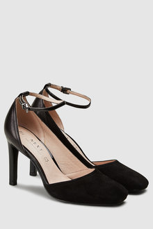 Next Leather Forever Comfort Asymmetric Cut Two Part Shoes