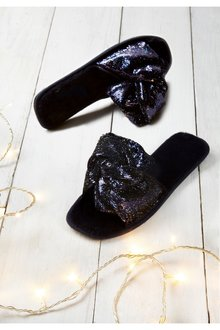 Next Sequin Slippers