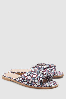 Next Forever Comfort Bow Mule Sandals