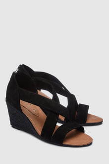 Next Suede Espadrille Wedges