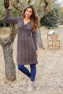 Urban V Neck Tunic Dress - 221776