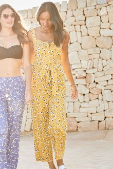 Next Floral Print Jumpsuit - Tall