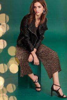 Next Leopard Culotte Jumpsuit