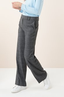 Next Prince Of Wales Check Wide Leg Trousers - Tall