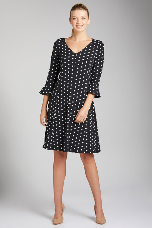 Capture Panelled Bell Sleeve Dress