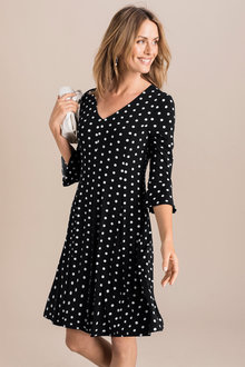 Capture Panelled Bell Sleeve Dress - 221843