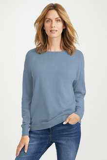 Capture Textured Crew Neck Sweater - 221845