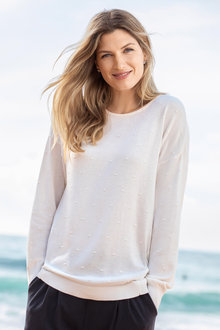 Capture Textured Crew Neck Sweater