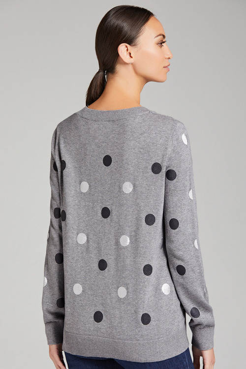 Capture Foil Spot Crew Neck Sweater