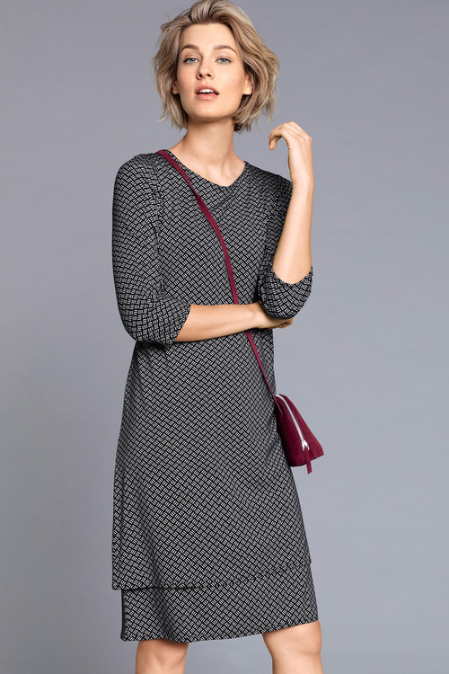 Capture Double Layer 3/4 Sleeve Dress