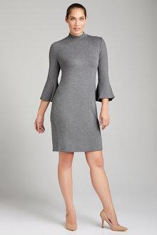 Emerge  3/4 Sleeve Ruffle  Dress - 221898
