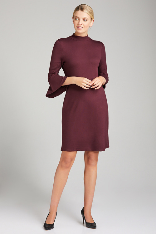 Emerge  3/4 Sleeve Ruffle  Dress