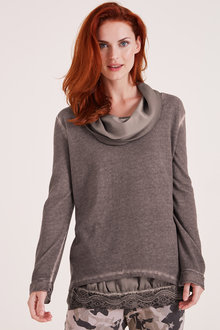 Heine Cowl Neck Layer Top