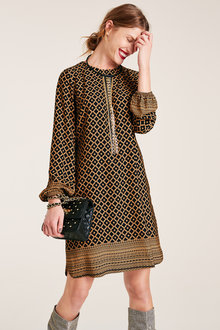 Heine Border Tile Print Dress - 221918