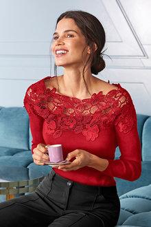 Heine Lace Knit Top