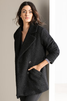 Grace Hill Boucle Double Breasted Coat
