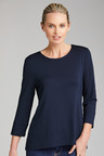 Grace Hill 3/4 Sleeve Curve Hem Top