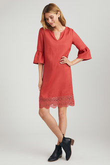 Grace Hill Bell Sleeve Shift Dress - 221935