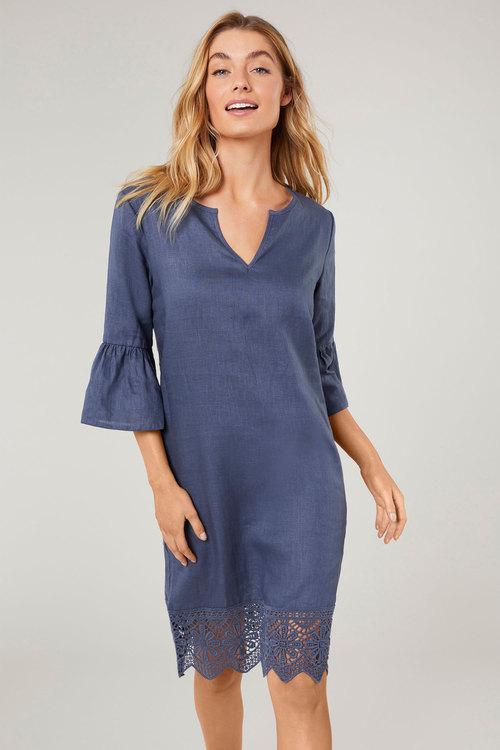 Grace Hill Bell Sleeve Shift Dress