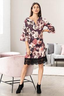 e48a23135fd Grace Hill Bell Sleeve Shift Dress
