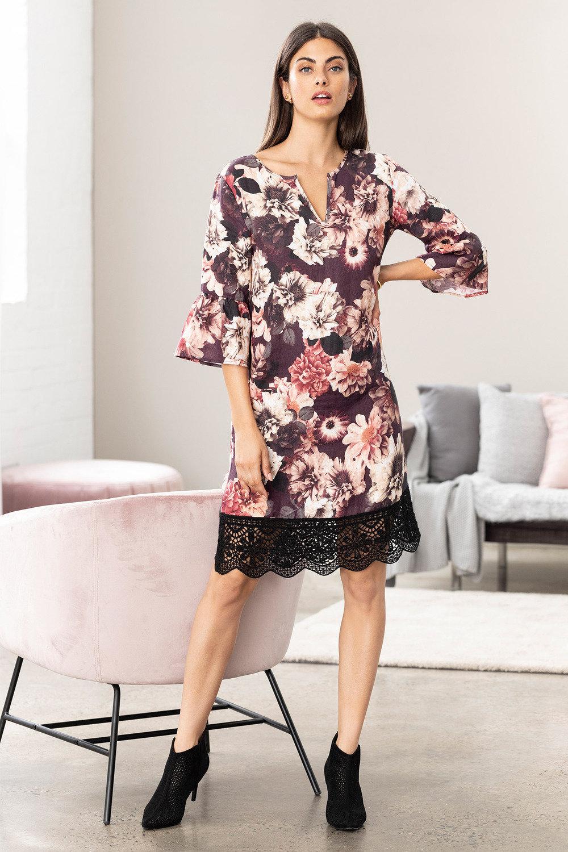 Grace Hill Bell Sleeve Shift Dress Online   Shop EziBuy