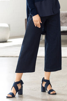 Grace Hill Wide Leg Denim Crop Pant