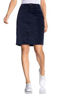 Emerge Cord A Line 5 Pocket Skirt - 221942