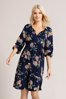 Emerge Tiered Long Sleeve Dress