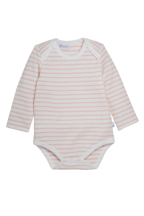 Pumpkin Patch Girls Long Sleeve Bodysuit Breton Stripe