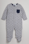 Pumpkin Patch Star Print Sleepsuit