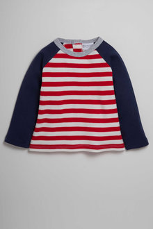 Pumpkin Patch Stripe Long Sleeve Raglan Tee