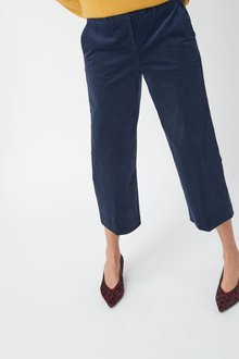 Next Cord Wide Crop Trousers