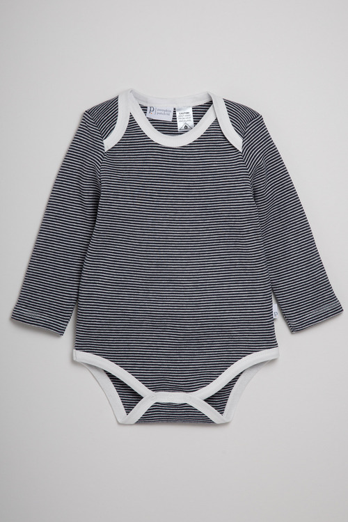 Pumpkin Patch Striped Long Sleeve Bodysuit