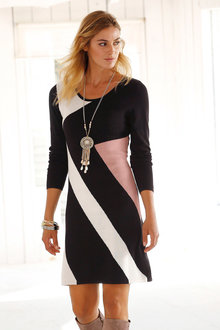 Urban Abstract Pattern Knit Dress