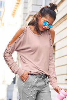 Urban Lace Up Knit Top