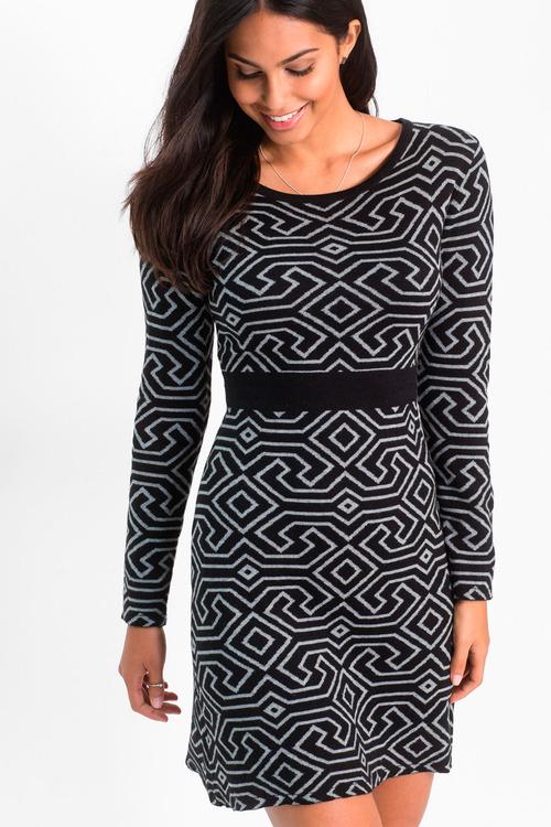 Urban Geo Pattern Dress