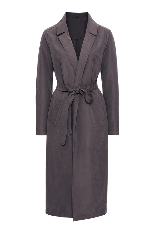 Urban Soft Feel Trench Coat