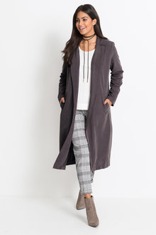 Urban Soft Feel Trench Coat - 222021