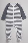 Pumpkin Patch Striped Sleepsuit
