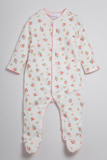 Pumpkin Patch Baby Girls Sleepsuit Strawberry AOP