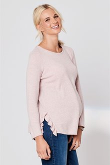Next Maternity Knitted Ruffle Top