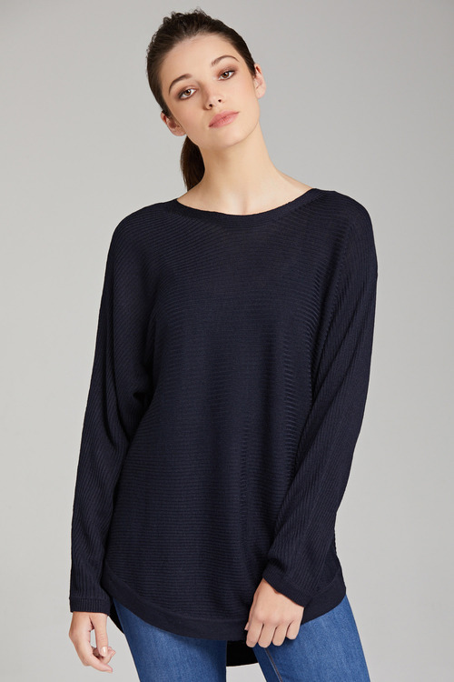 Capture Ribbed Batwing Sweater