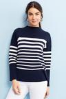 Capture Funnel Neck Breton Stripe Sweater