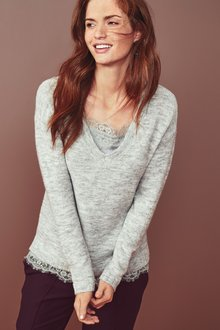 Next Lace Cami Layer Sweater
