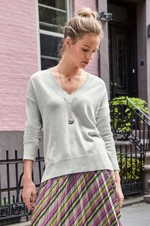 Next Luxe V-Neck Sweater