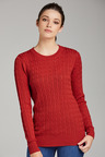 Capture Cable Crew Neck Sweater