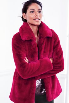 Next Faux Fur Short Coat