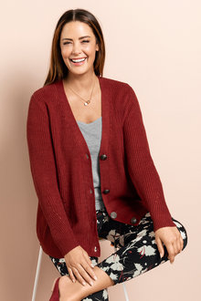 Plus Size - Sara Rib Detail Cardigan